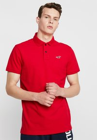 Hollister Co. - HERITAGE MUSCLE SOLID - Polo - red - 0