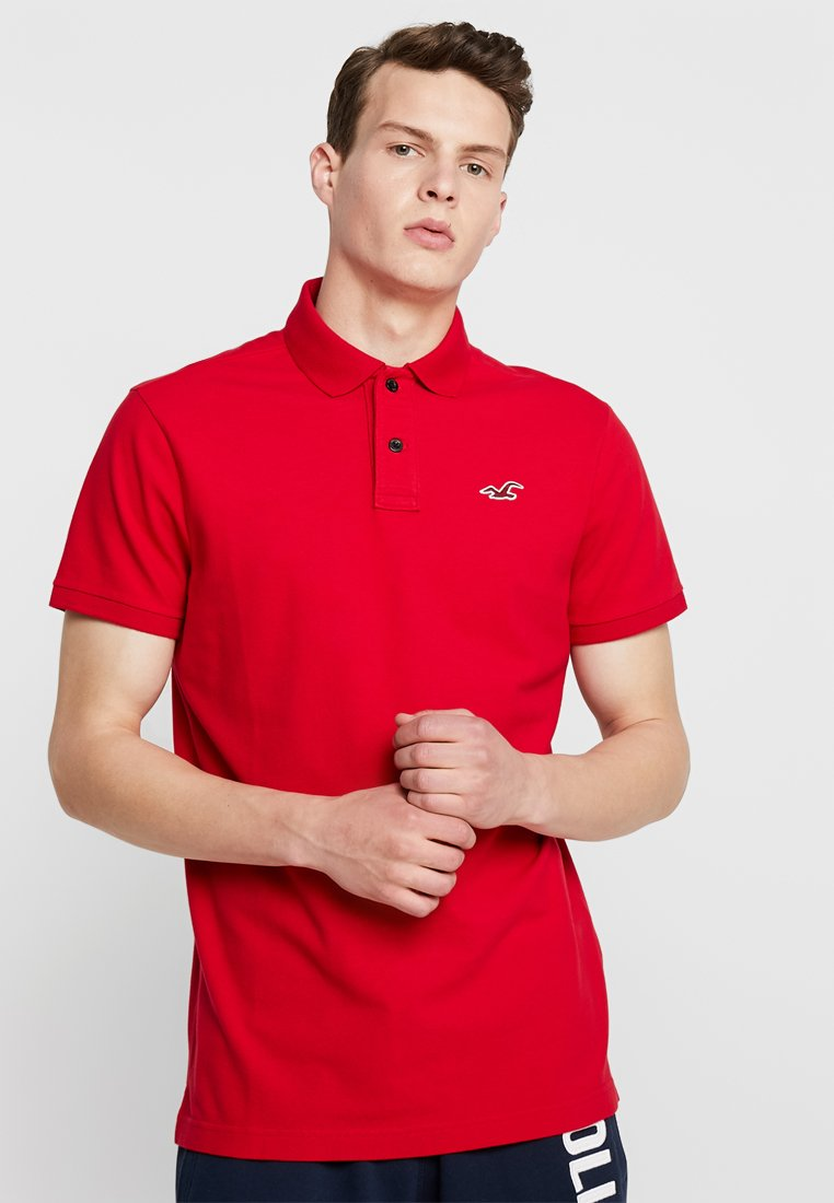 Hollister Co. - HERITAGE MUSCLE SOLID - Polo - red