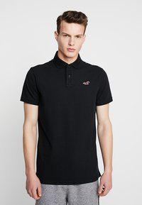 Hollister Co. - HERITAGE MUSCLE SOLID - Polo shirt - black - 0