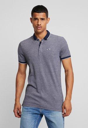 MODERN COLLAR  SOLID  - Polo shirt - textural navy