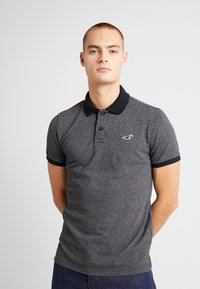 Hollister Co. - HERITAGE SLIM - Polo - black - 0
