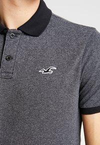 Hollister Co. - HERITAGE SLIM - Polo - black