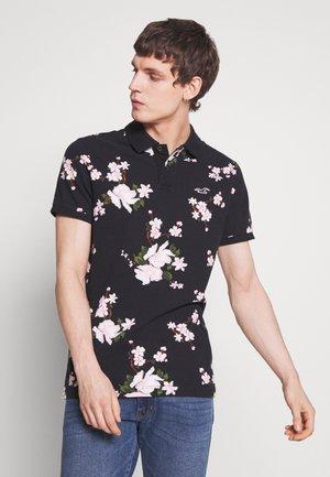 HERITAGE FLORAL PRINT - Polo shirt - black