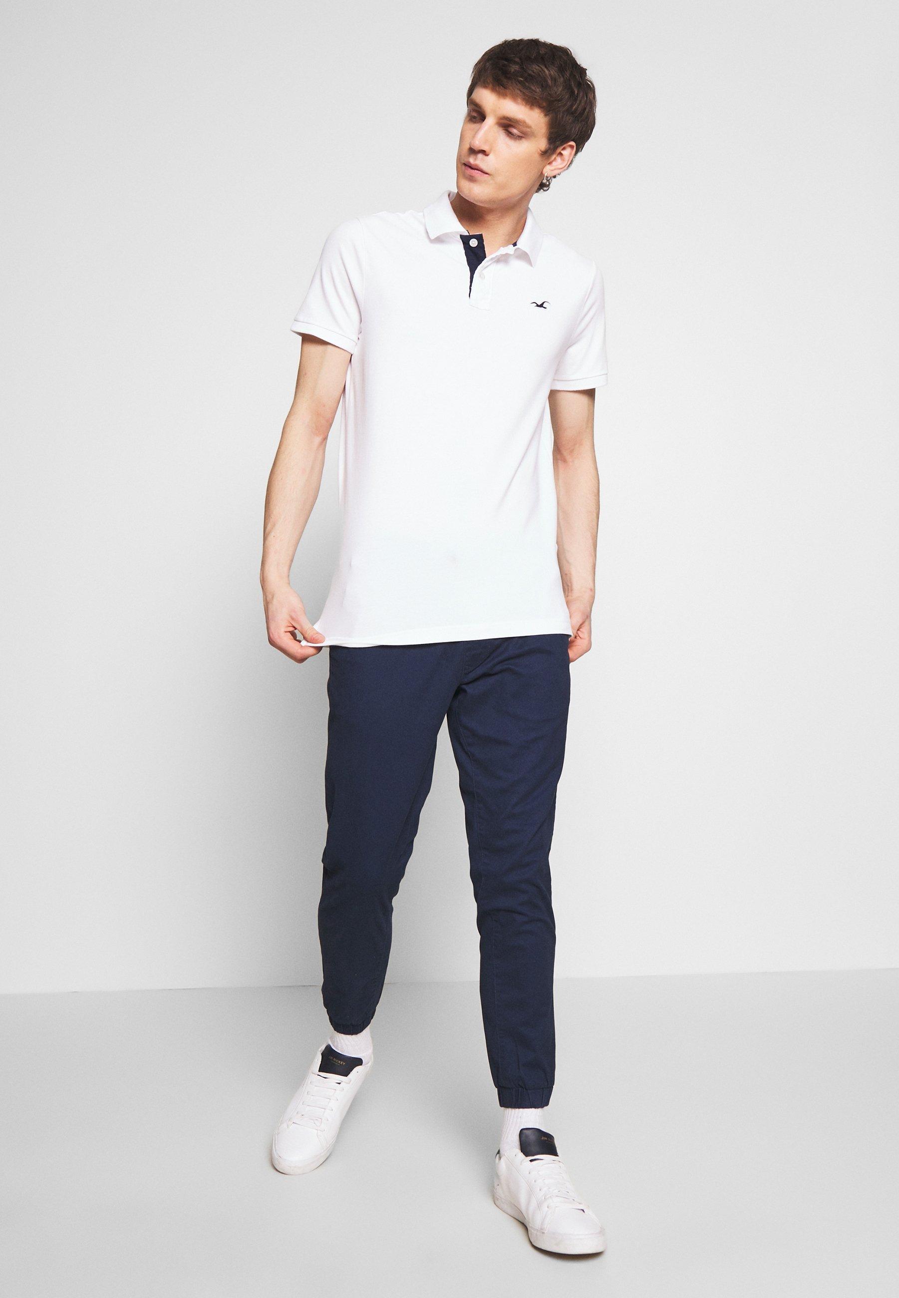 Hollister Co. 3Pack - Koszulka polo - white navy black multi