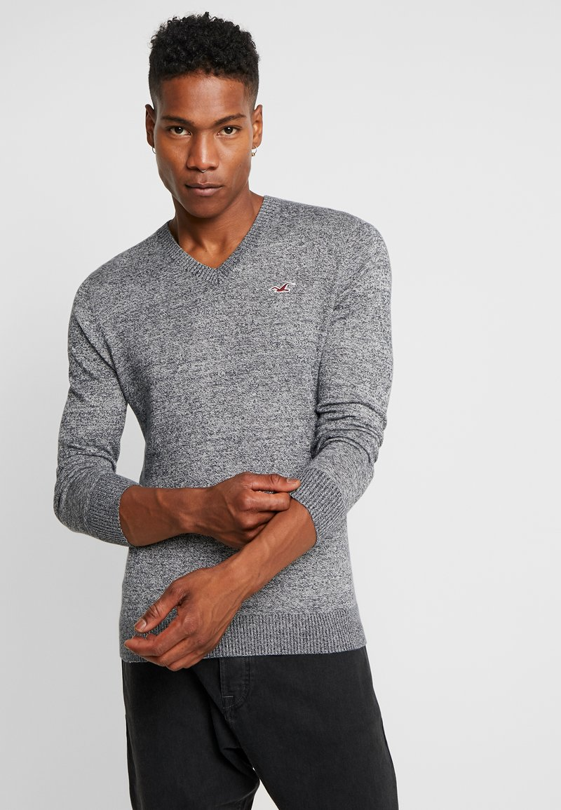 Hollister Co. - CORE V-NECK  - Strickpullover - grey