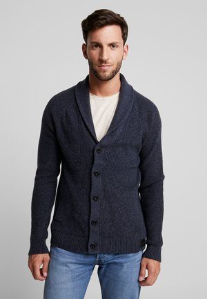 SHAWL - Cardigan - navy