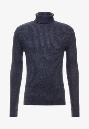 MUSCLE FIT TURTLENECK  - Strikkegenser - dark grey