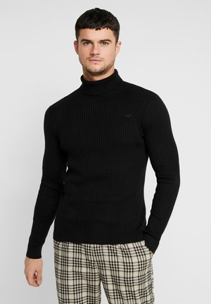 MUSCLE FIT TURTLENECK  - Jersey de punto - black