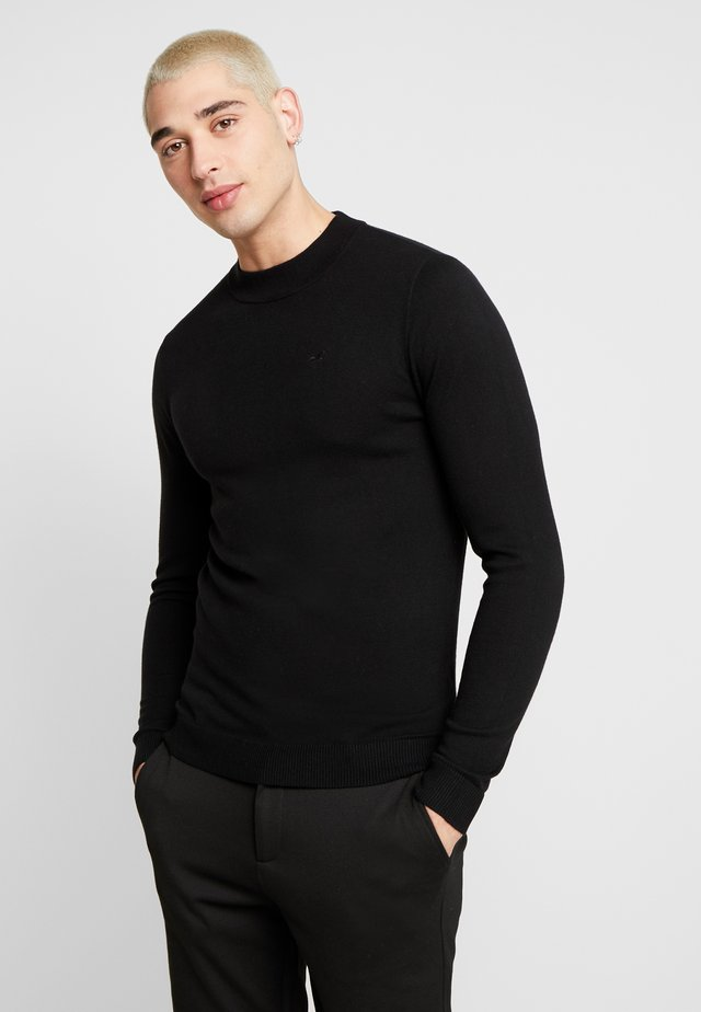 MOCK NECK  - Strickpullover - black
