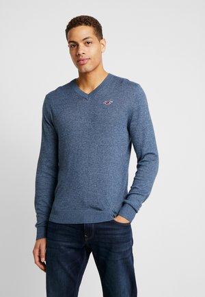 CORE VNECK EXTENSION - Pullover - textural blue