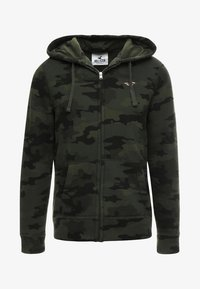 Hollister Co. - ICON - veste en sweat zippée - olive - 5