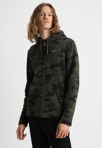 Hollister Co. - ICON - veste en sweat zippée - olive - 0