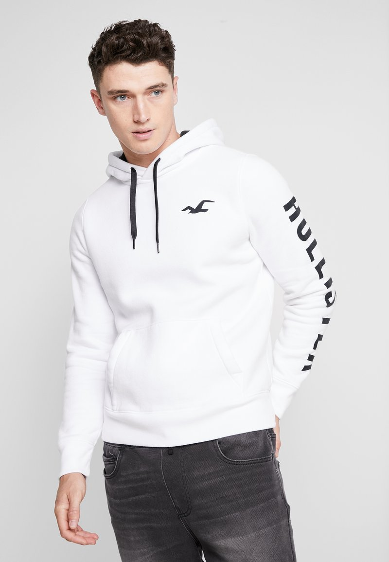 Hollister Co. - PRINT LOGO - Hoodie - white
