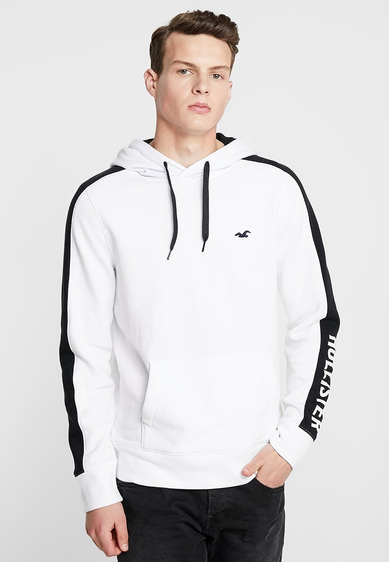 Hollister Co. - SLEEVE PANEL - Jersey con capucha - white