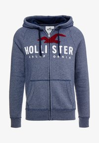 Hollister Co. - ICONIC TECH LOGO  - Huvtröja med dragkedja - navy - 3