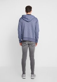 Hollister Co. - CORE ICON - Zip-up hoodie - textural navy - 2