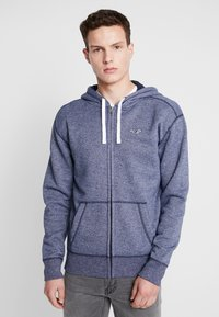 Hollister Co. - CORE ICON - Zip-up hoodie - textural navy - 0