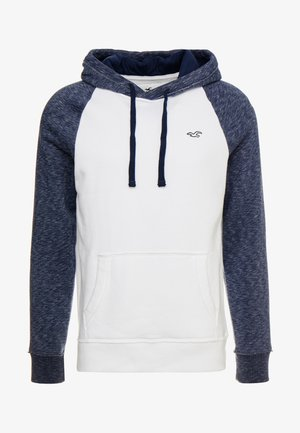 BLOCKING  - Hoodie - white/navy