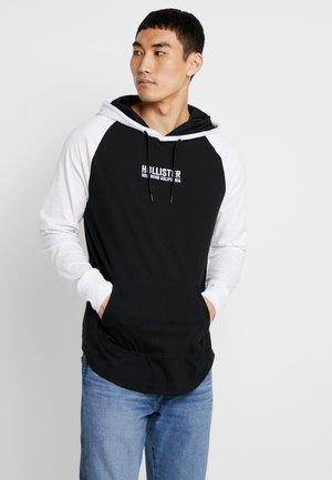 LOGO BLOCK HOOD - Bluza z kapturem - black