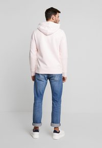 Hollister Co. - LOGO TAPES - Mikina s kapucí - light pink - 2