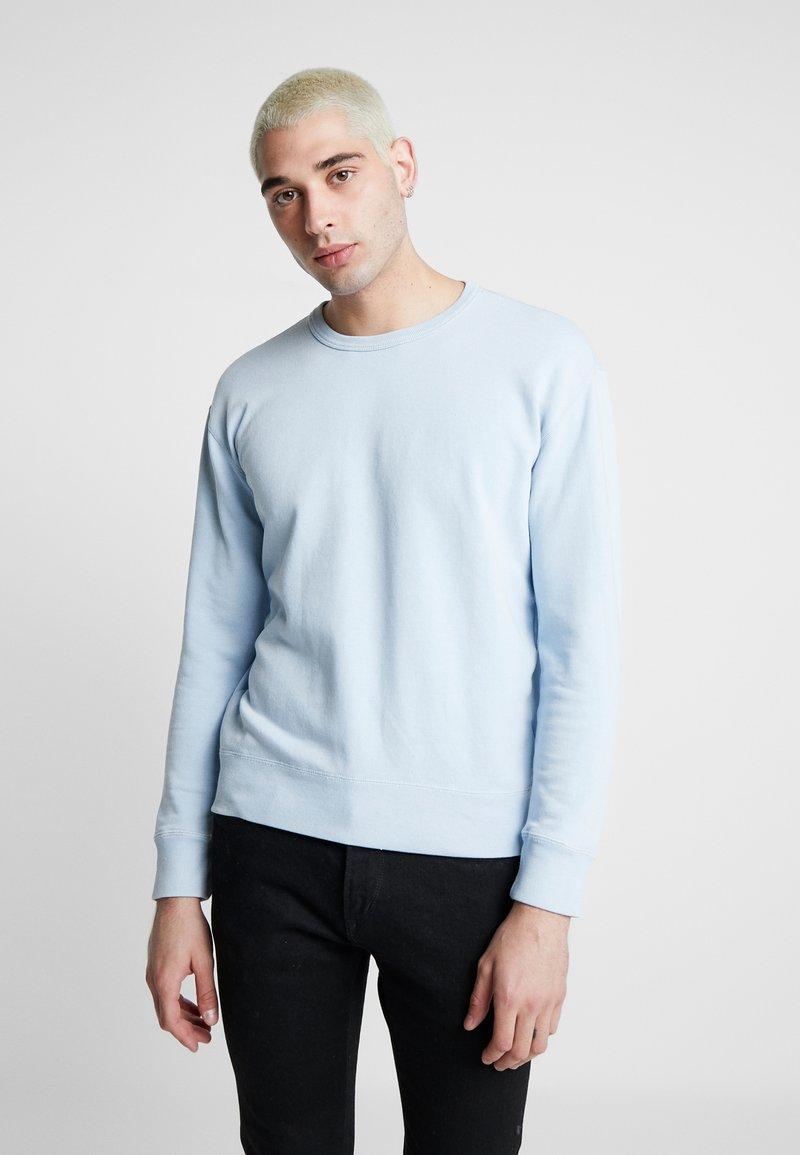Hollister Co. - STRIPE & WASH SMALL CREW - Sweater - light blue