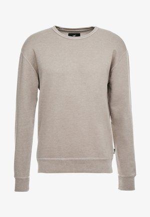 STRIPE & WASH SMALL CREW - Sweatshirt - tan