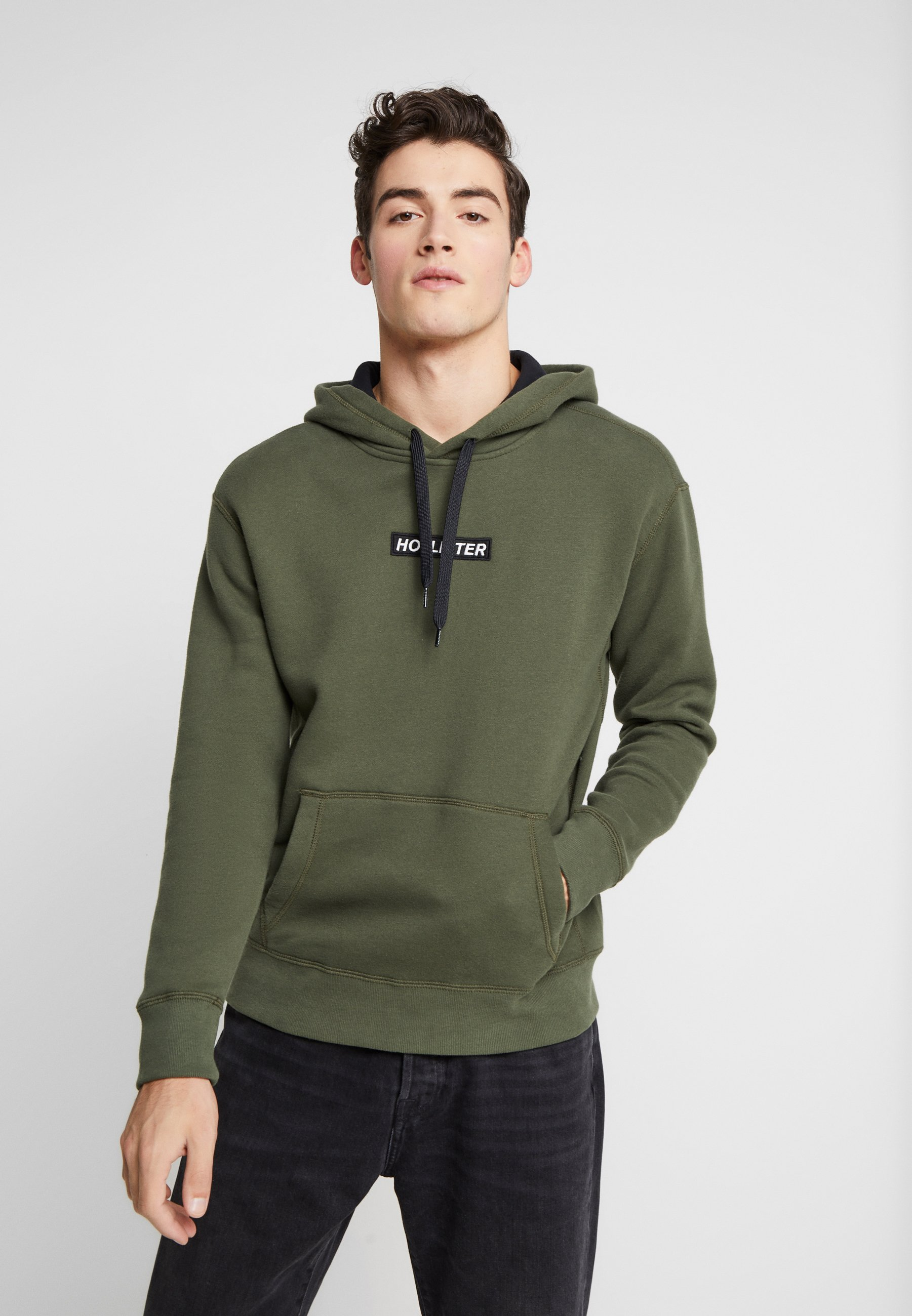Hollister Co. XMAS BOX LOGO - Bluza z kapturem - green