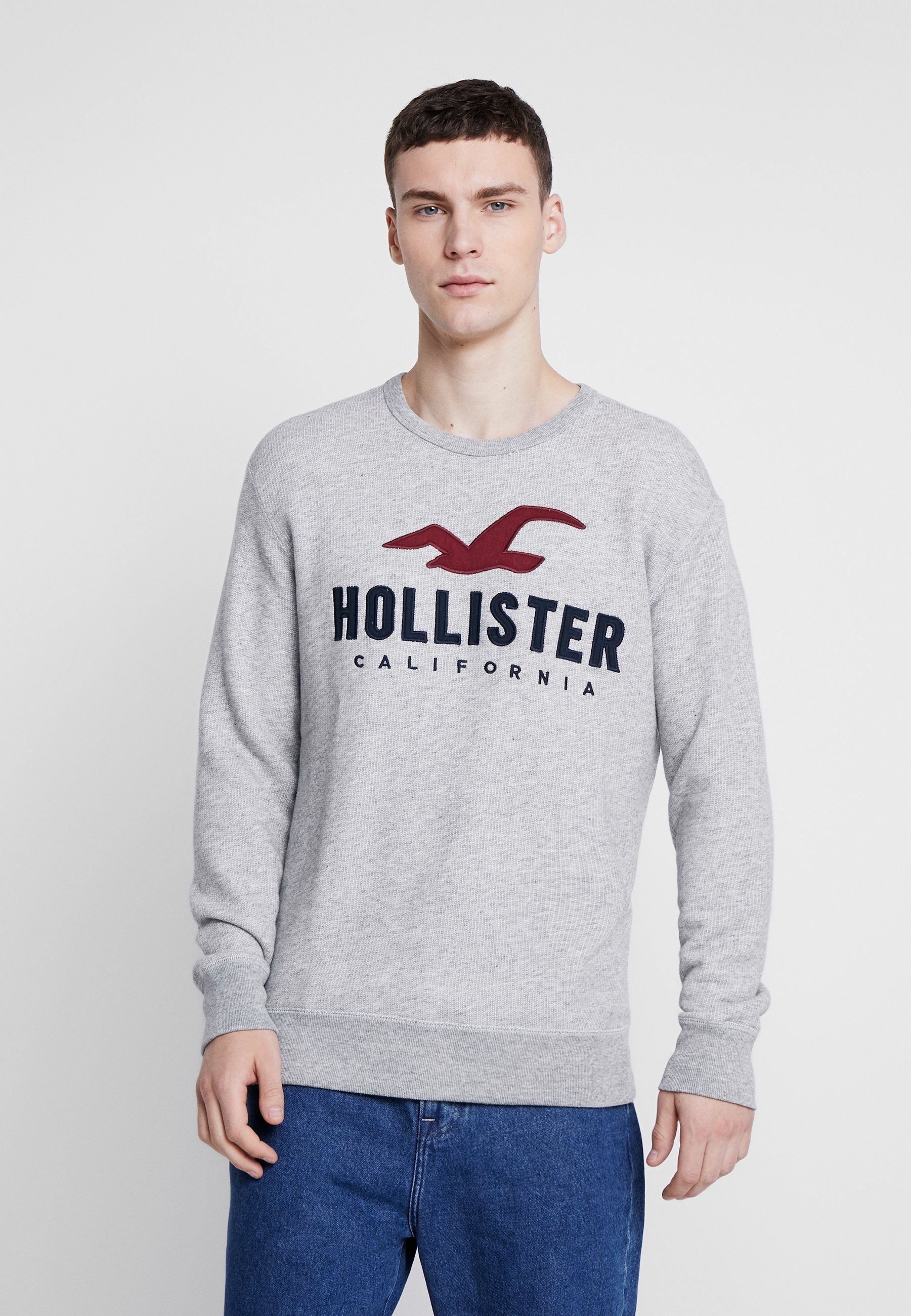 Hollister Co. TECH LOGO CREW - Bluza - grey