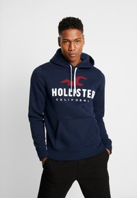 Hollister Co. - TECHNIQUE LOGO  - Mikina s kapucí - navy - 0