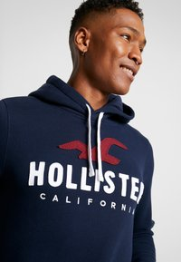 Hollister Co. - TECHNIQUE LOGO  - Mikina s kapucí - navy - 4