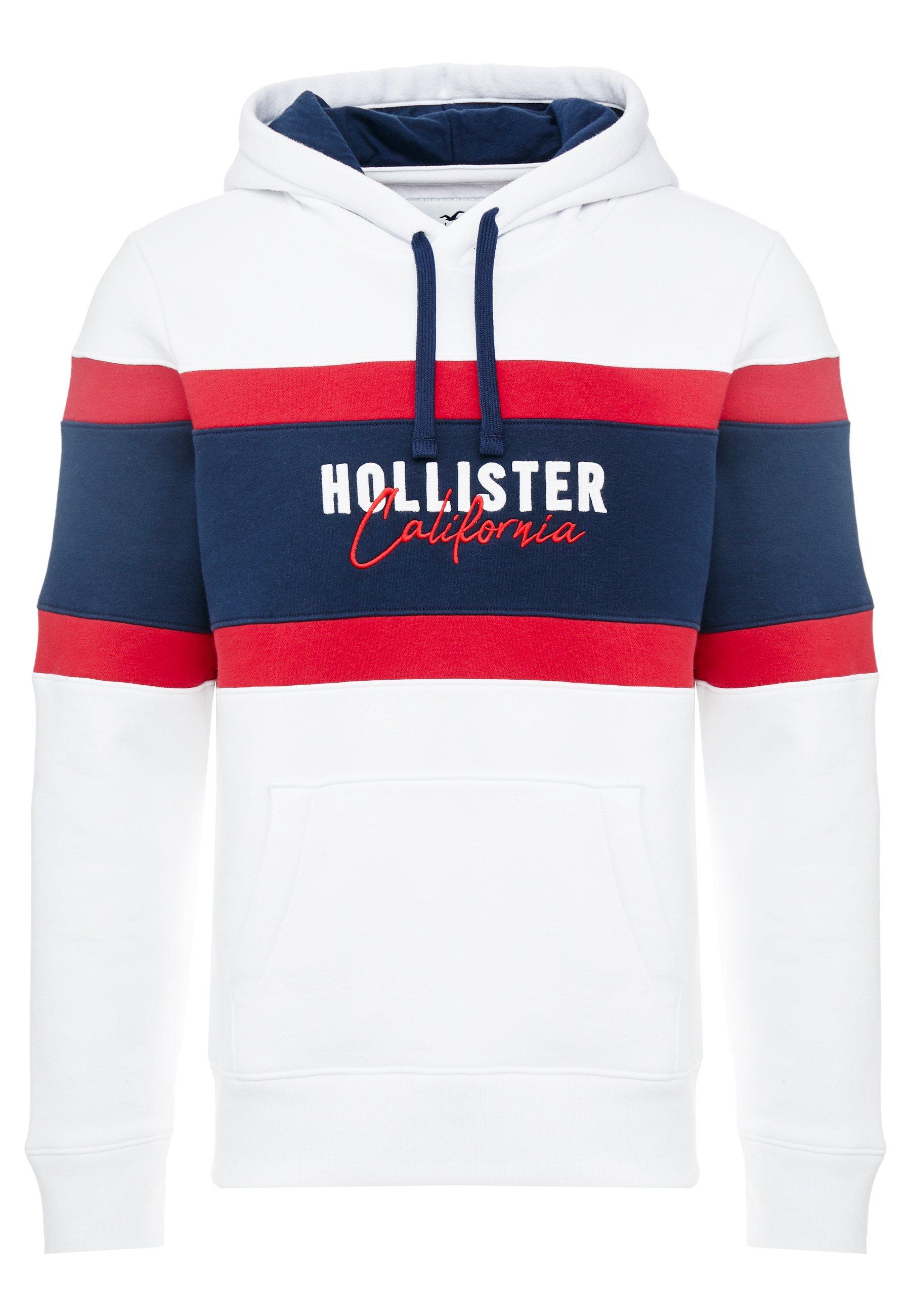 Hollister Co. Elevated Tech Logo - Sweat À Capuche White