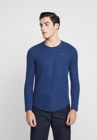 Hollister Co. - SCRUNCH CURVE HEM CREW - Svetr - solid navy - 0