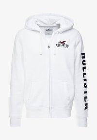 Hollister Co. - TECHNIQUE LOGO - veste en sweat zippée - white - 4
