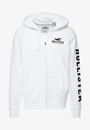 TECHNIQUE LOGO - veste en sweat zippée - white