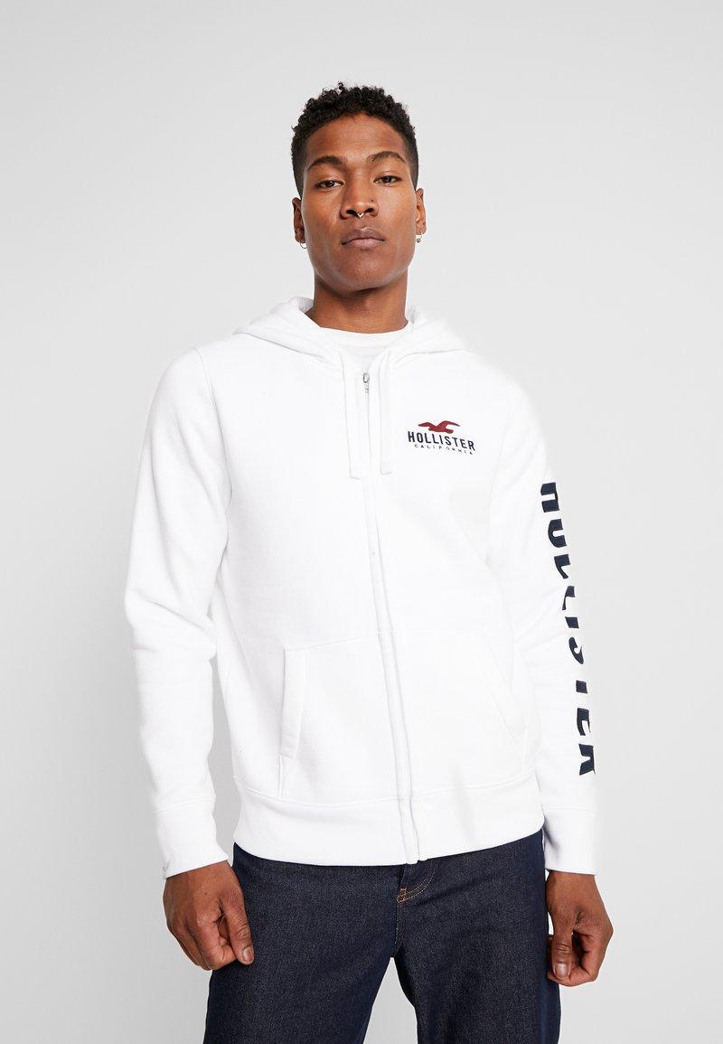 Hollister Co. - TECHNIQUE LOGO - veste en sweat zippée - white