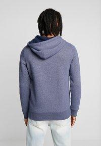 Hollister Co. - TECHNIQUE LOGO - veste en sweat zippée - navy - 2