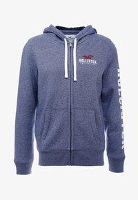 Hollister Co. - TECHNIQUE LOGO - veste en sweat zippée - navy - 3
