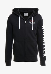 Hollister Co. - TECHNIQUE LOGO - Sudadera con cremallera - black - 3