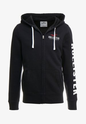 TECHNIQUE LOGO - Zip-up hoodie - black