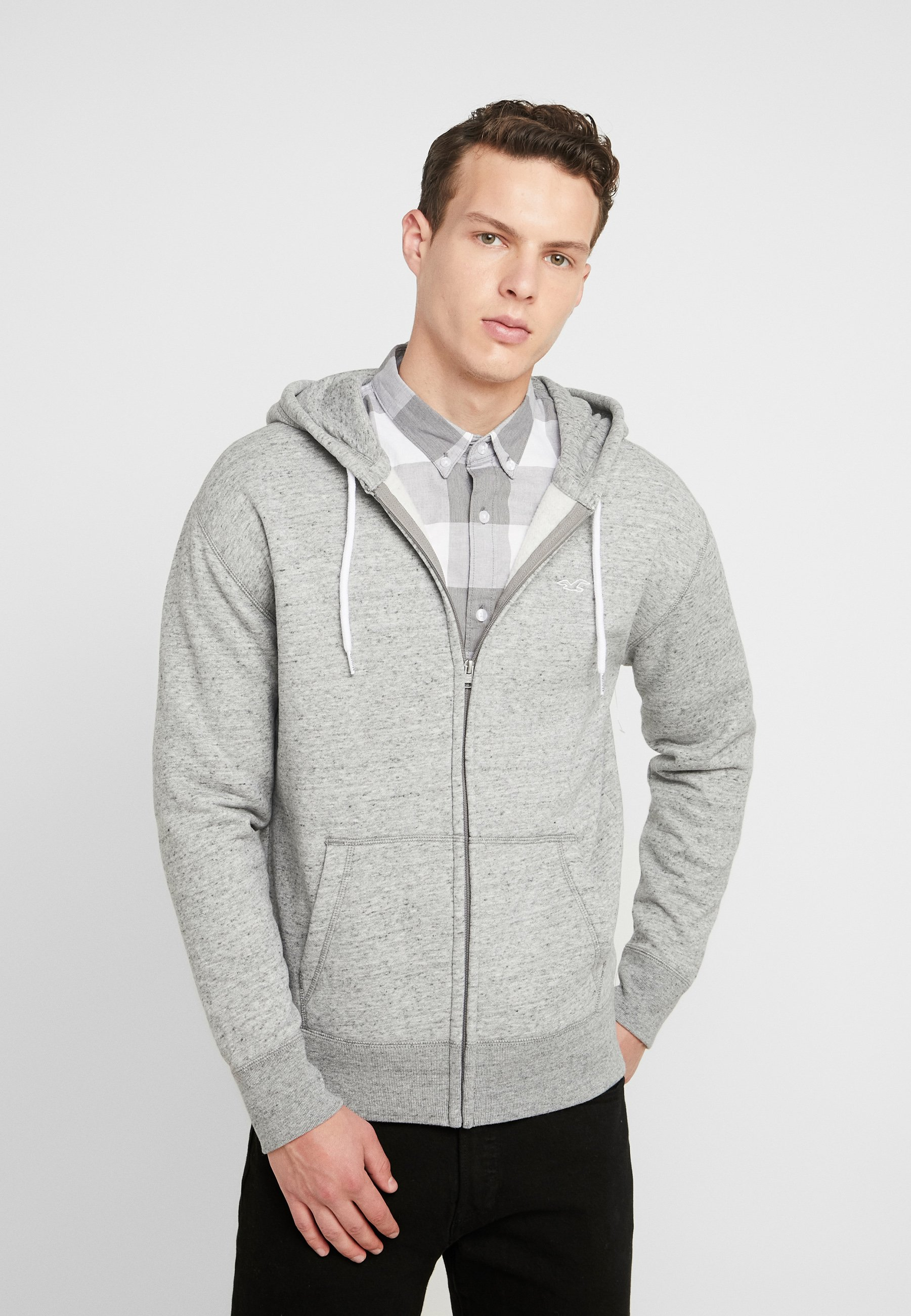 Hollister Co. GENDERLESS ICON - Bluza rozpinana - grey