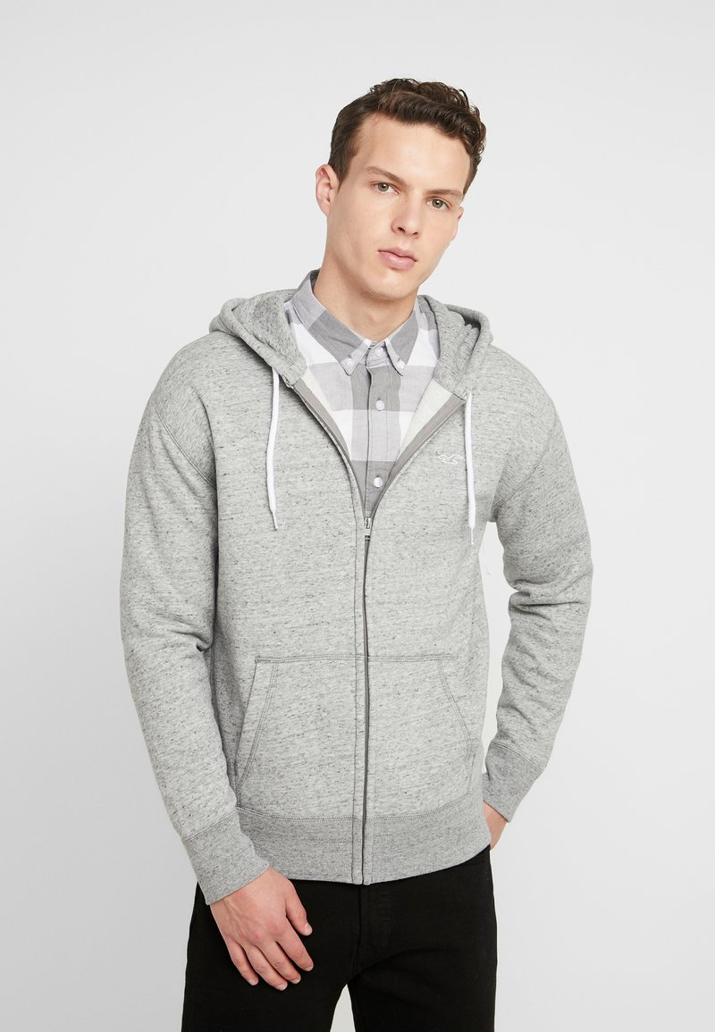 Hollister Co. - GENDERLESS ICON - Zip-up hoodie - grey