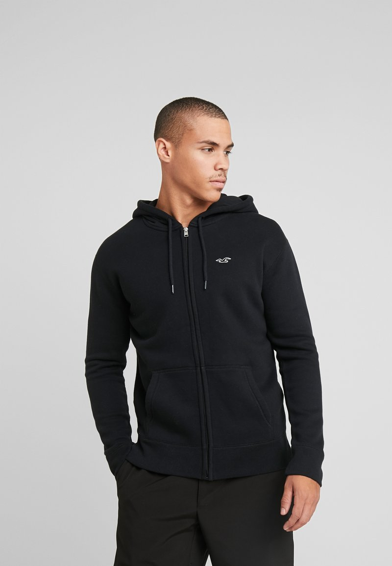 Hollister Co. - GENDERLESS ICON - Mikina na zip - black