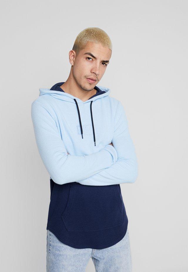 WAFFLE HOODS  - Jersey con capucha - light blue block