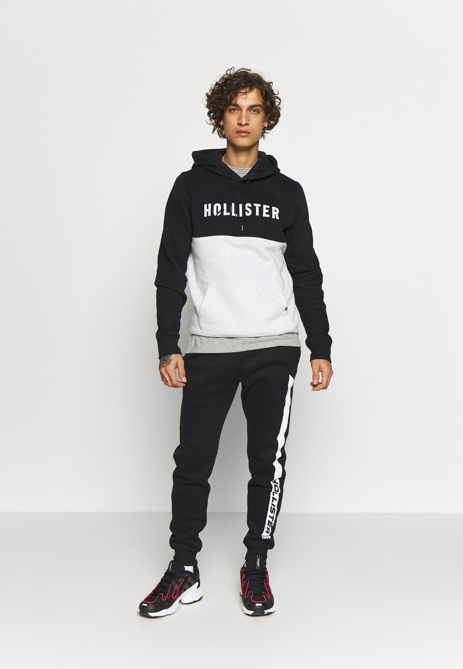 Hollister Co. LIVED IN LEGACY LOGO - Hoodie - light grey/ black