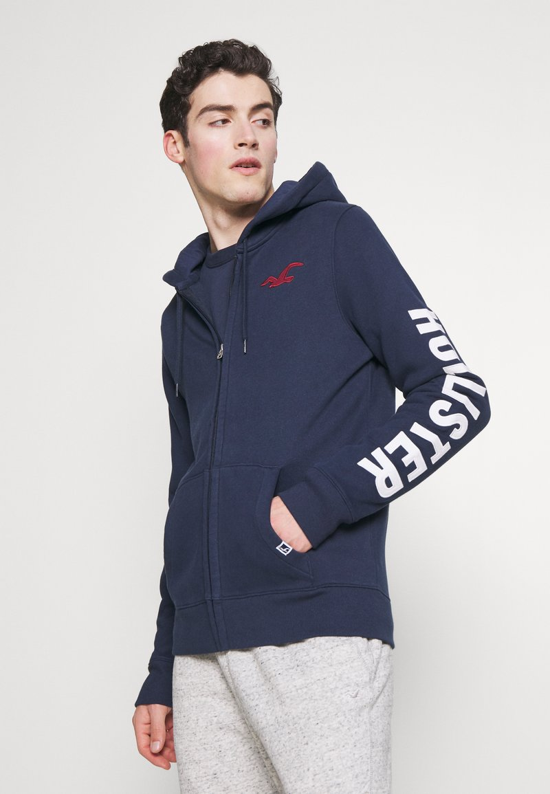 Hollister Co. - LIVED IN LEGACY LOGO  - Sudadera con cremallera - navy