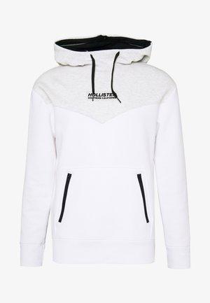 TONAL BOX  - Jersey con capucha - grey/white