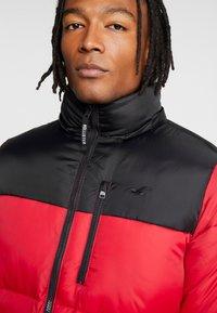 Hollister Co. - PUFFER HOOD  - Winter jacket - red - 6