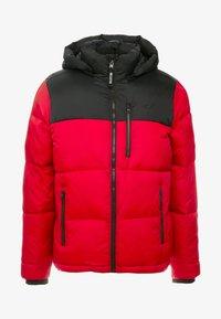 Hollister Co. - PUFFER HOOD  - Winter jacket - red - 5