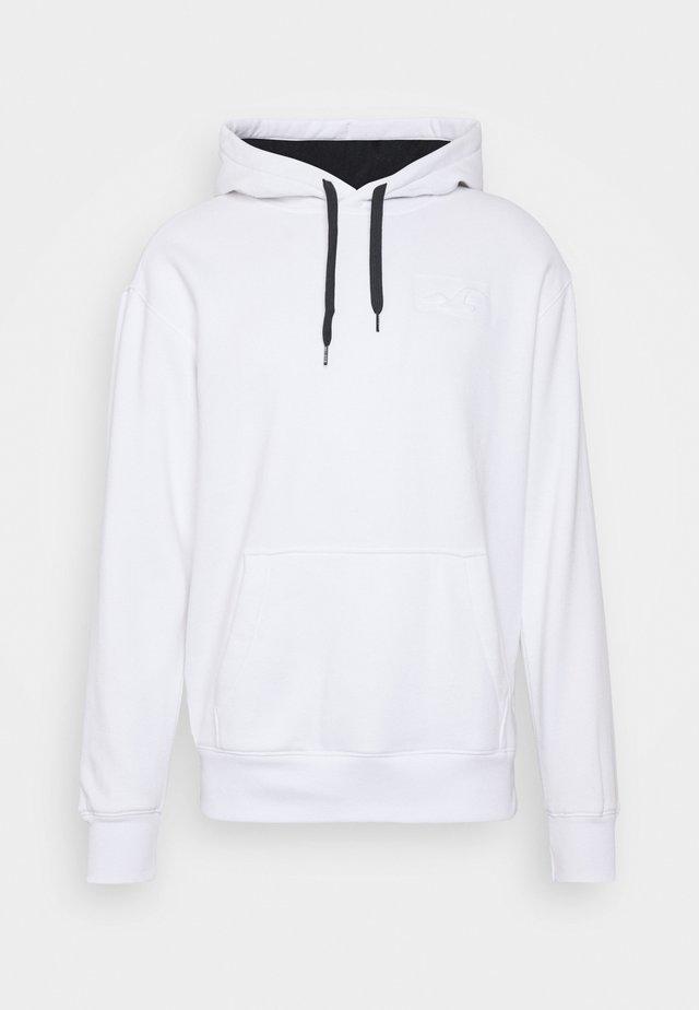 EMBOSSED SCRIPT - Jersey con capucha - white