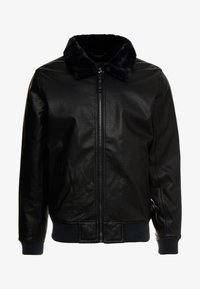 Hollister Co. - AVIATOR - Giacca in similpelle - black - 4